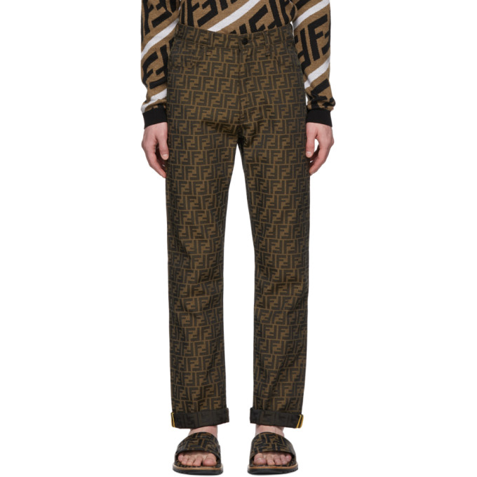 Brown All Over 'forever Fendi' Trousers by Fendi