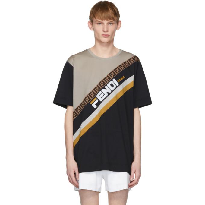Black 'fendi Mania' T Shirt by Fendi
