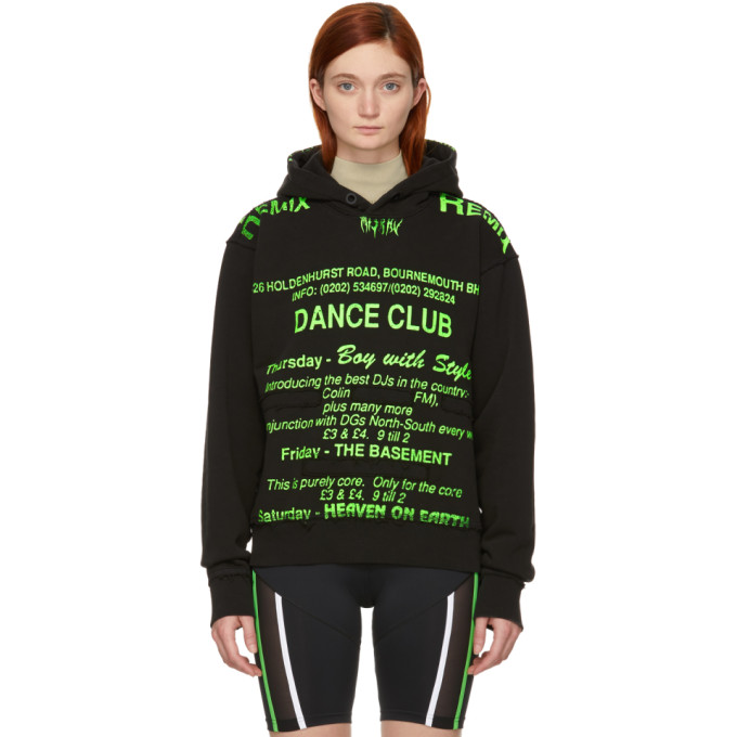 Black & Green 'dance Club' Hoodie by Misbhv