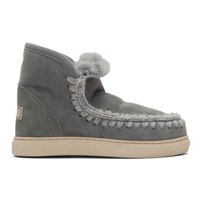 Stella McCartney Black Mini Eskimo Sneaker Boots
