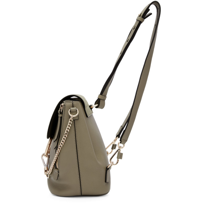 CHLOÉ Leathers Grey Small Faye Backpack