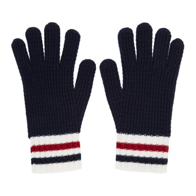 127ad53019d5 Moncler Gamme Bleu Navy Wool Gloves