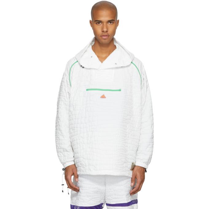ADIDAS BY KOLOR Adidas X Kolor White Nylon Embossed Jacket