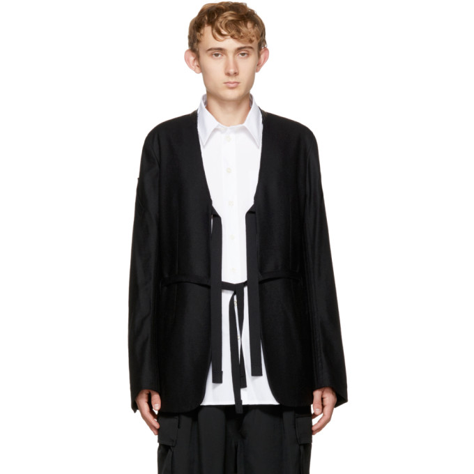 TAKAHIROMIYASHITA THE SOLOIST Takahiromiyashita Thesoloist. Black Collarless Jacket