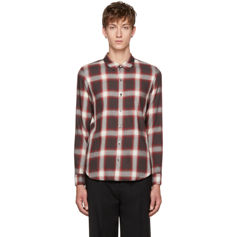 Brown Plaid Shirt by Attachment