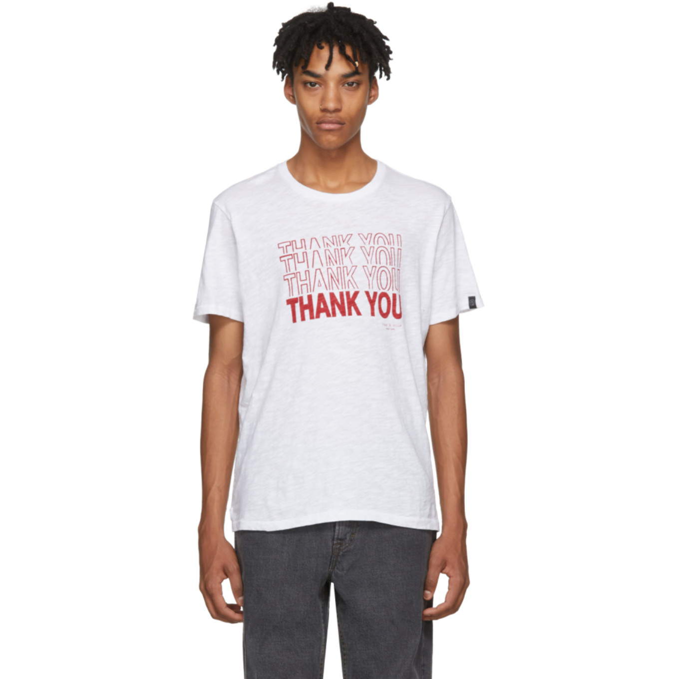 White 'thank You' T Shirt by Rag & Bone