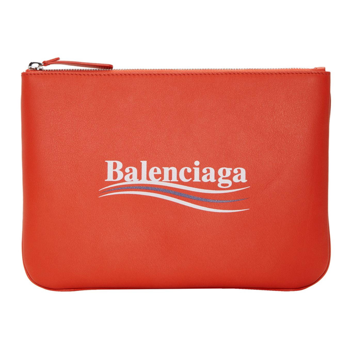 Red Everyday Campaign Pouch by Balenciaga
