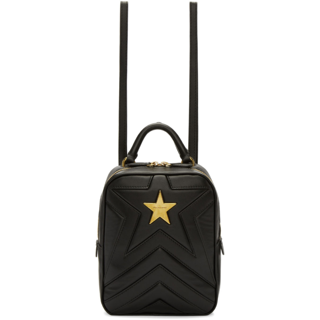 Black Small Quilted Star Backpack by Stella Mccartney