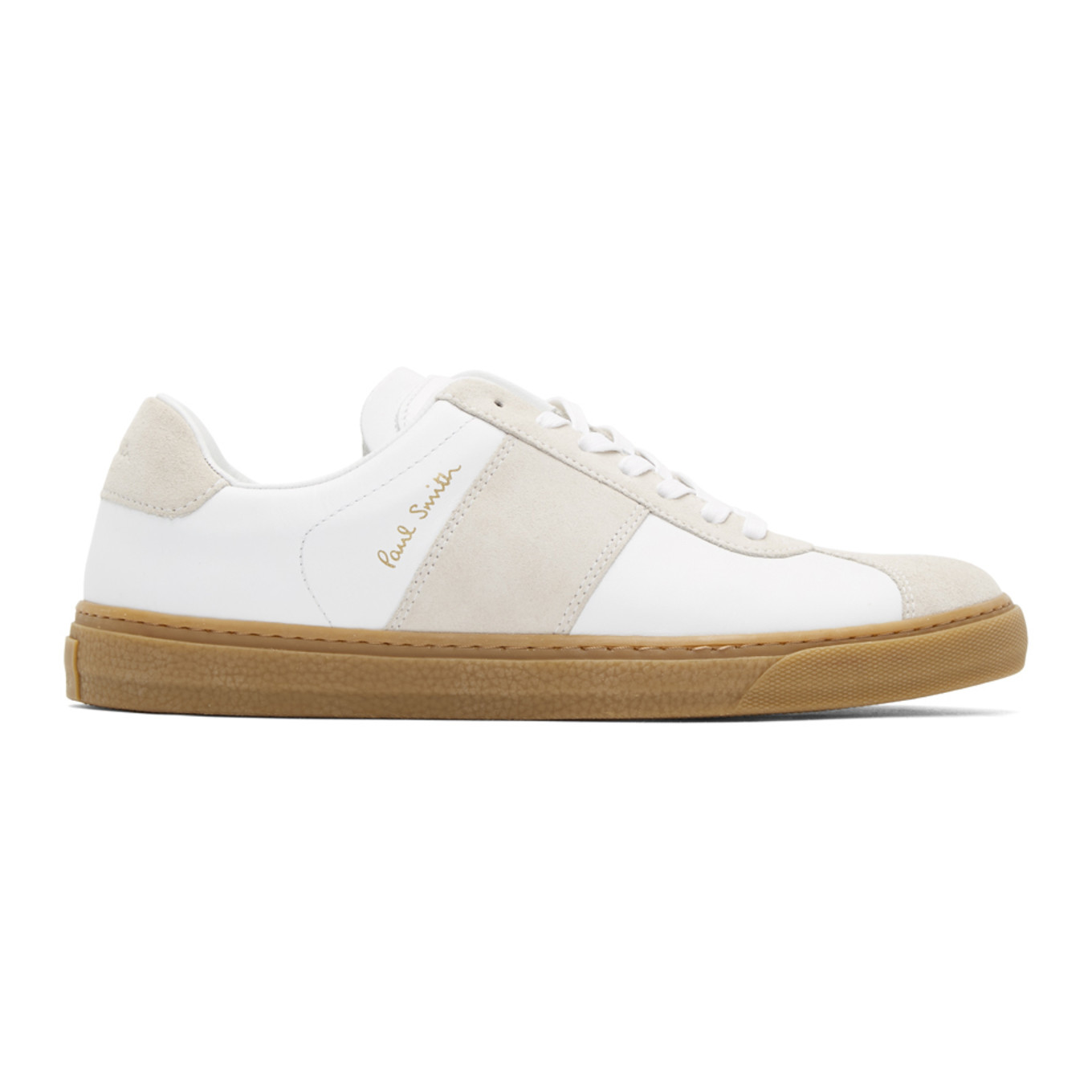 White Levon Sneakers by Paul Smith
