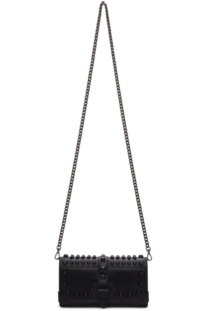 Prada - Black Mini Cahier Chain Wallet Bag