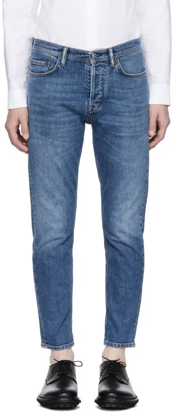 Acne Studios Blå Konst Blue River Jeans