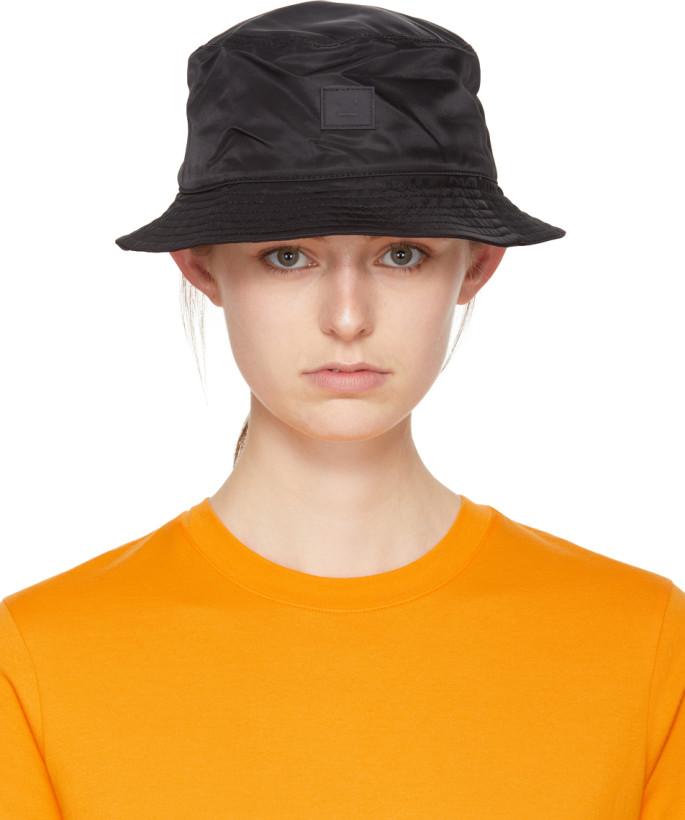 Acne Studios Black Buk Face Bucket Hat