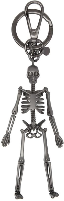 Alexander McQueen Gunmetal Skeleton Keychain
