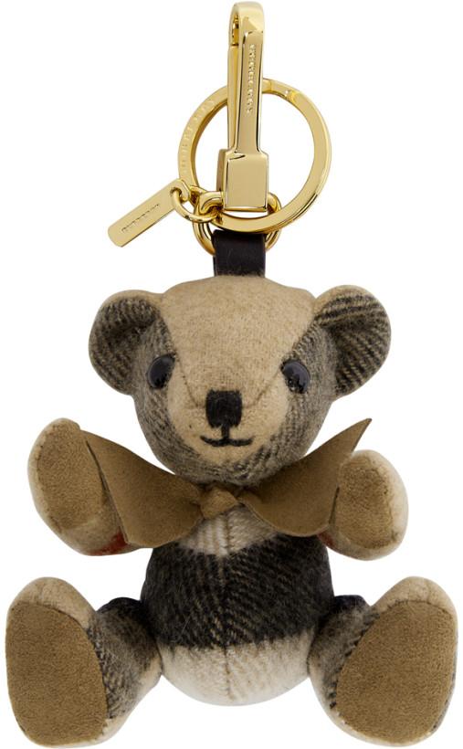 Burberry Tan Thomas Check Keychaind