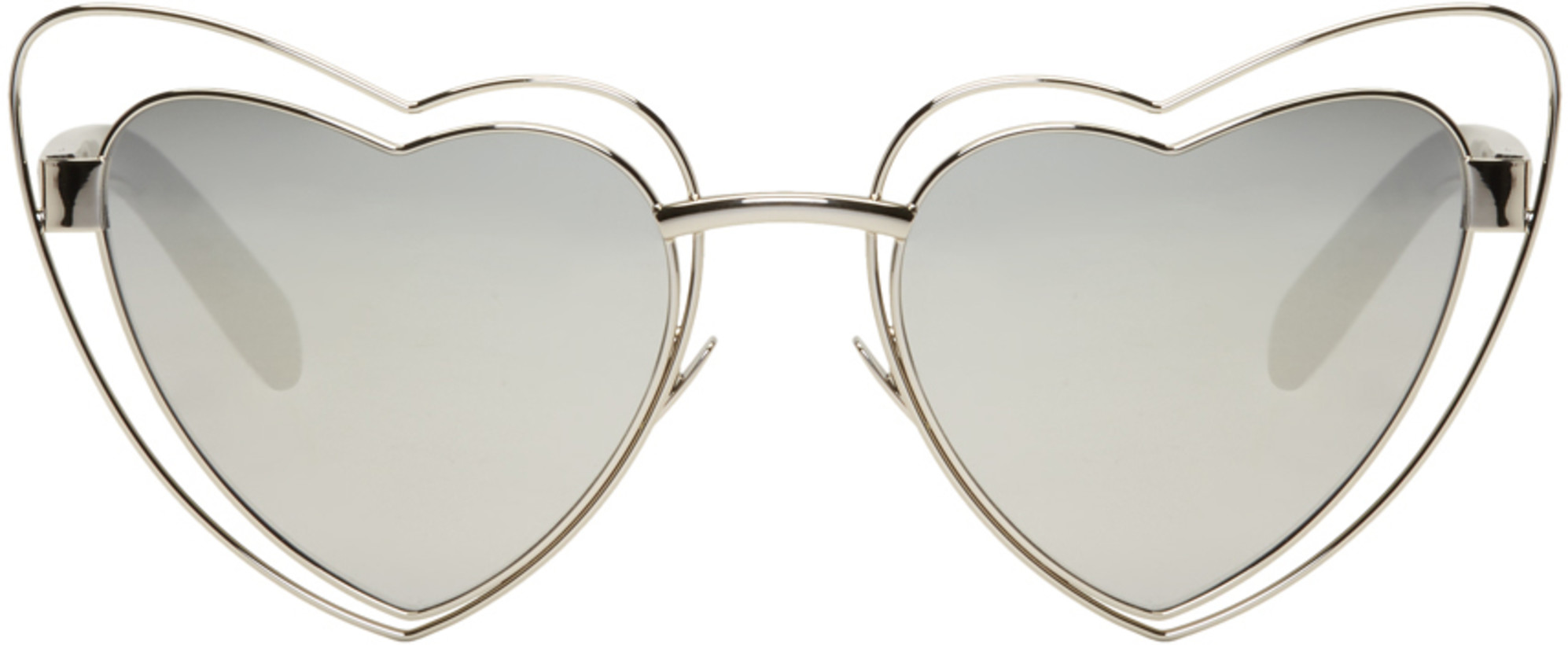 Saint Laurent Silver SL 197 Lou Lou Cut-Out Sunglasses