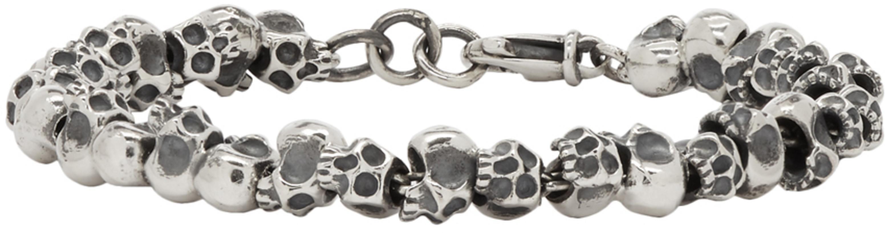 Luka Sabbat x Monini Silver Mini Skulls Bracelet