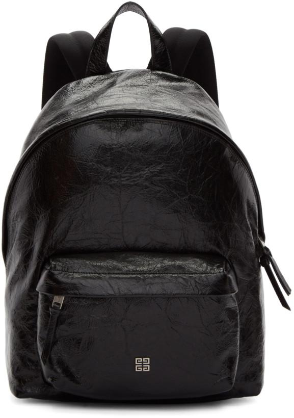 Givenchy Black Vintage 4G Leather Backpack