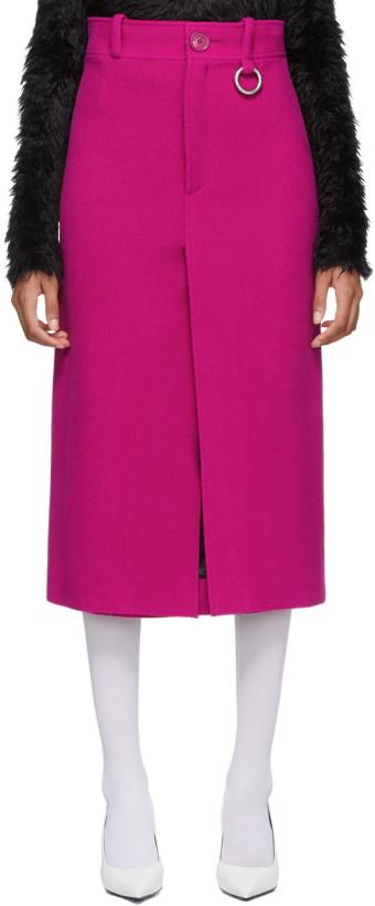 Balenciaga Pink Pleat Skirt