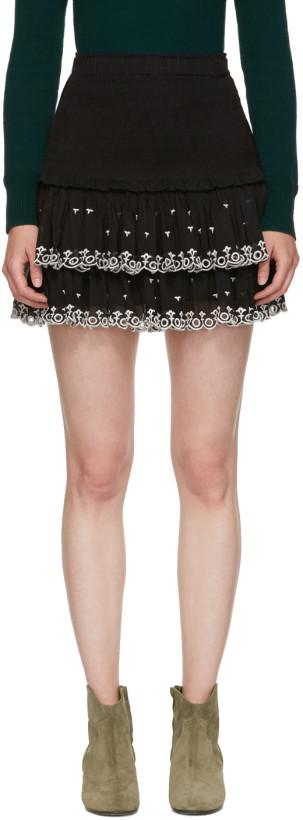 Isabel Marant Etoile Black Naomi Skirt
