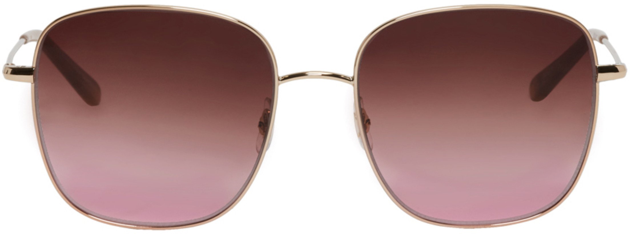 Garrett Leight Gold Tuscany Sunglasses