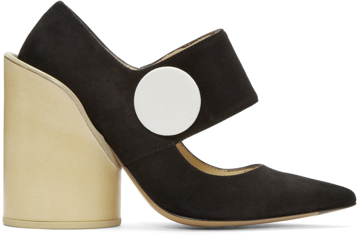 Jacquemus Black Suede 'Les Chaussures Gros Boutons' Heels