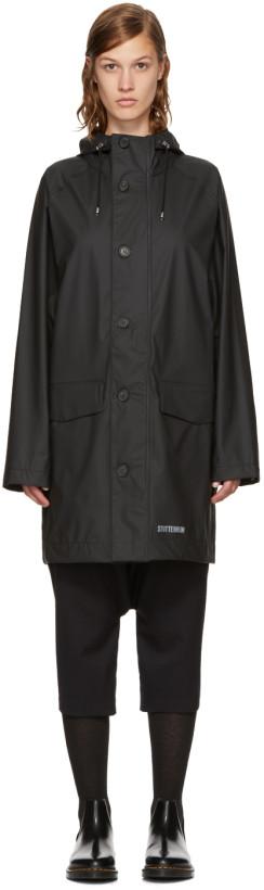 Stutterheim Black Ekeby Raincoat