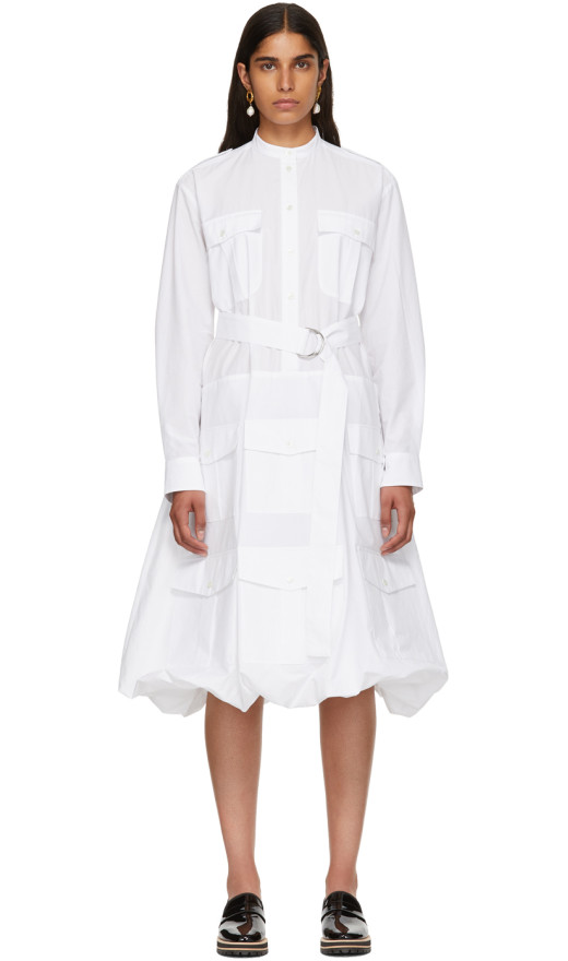 JW Anderson - White Multi Pocket Shirt Dress