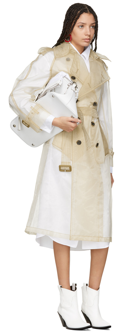 Maison Margiela - Beige Techno Organza Trench Coat