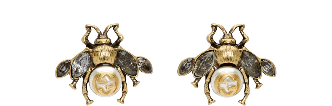 Gucci - Gold Bee Motif Earrings