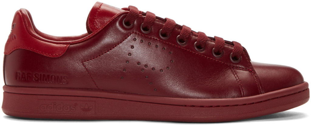 Red adidas Originals Edition Stan Smith Sneakers Raf Simons FVamwieCSY