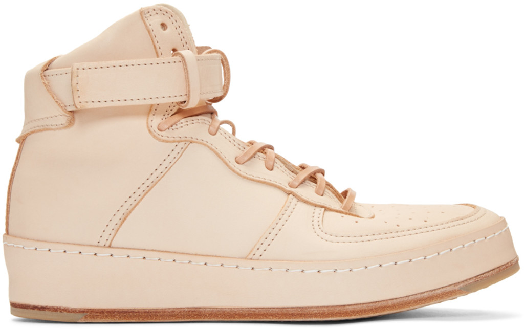 Read more Beige Manual Industrial Products 01 High-Top Sneakers