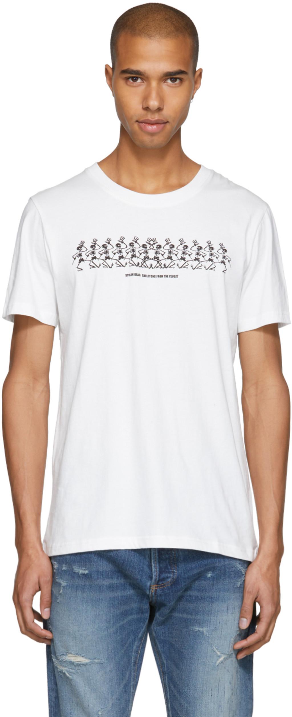 White Grateful Dead Moon Beach T-Shirt Stolen Girlfriends Club