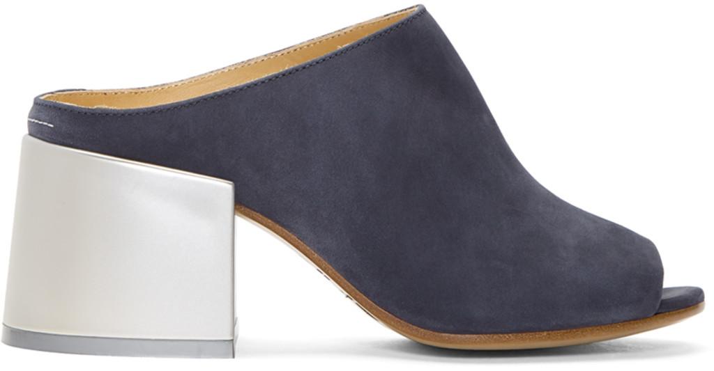 Marcelo Burlon County of Milan Burgundy Velvet Cube Heel Boots