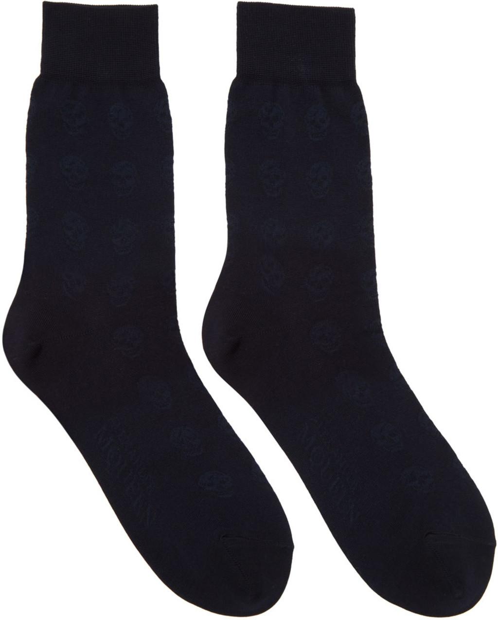 Alexander McQueen Skull argyle socks