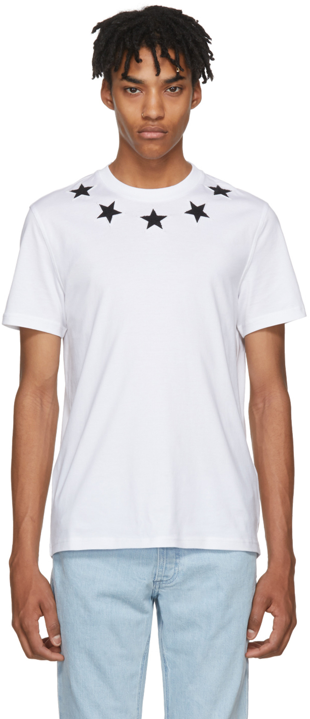 White and Red Iris Pocket T-Shirt Givenchy