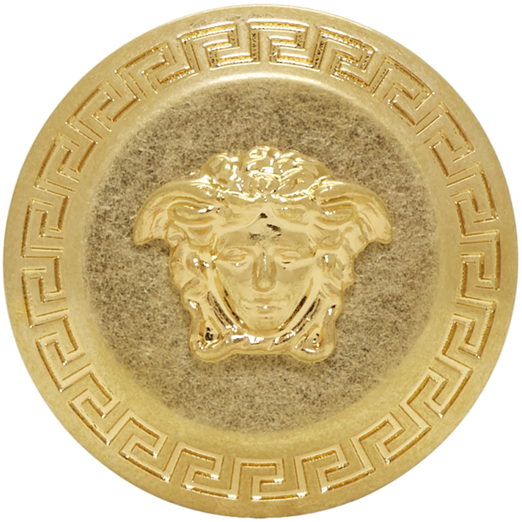 Gold Small Coin Ring Versace