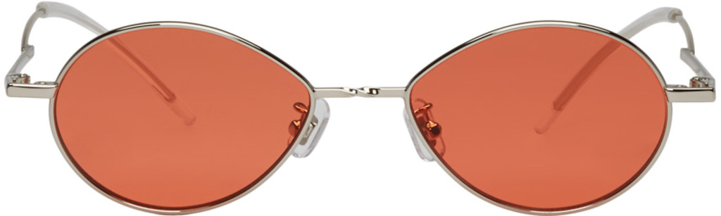 Silver and Orange Cobalt Sunglasses Gentle Monster