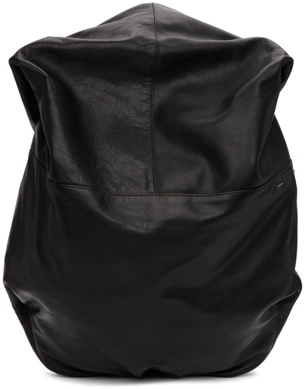 Lyst - Balenciaga Leather Drawstring Backpack in Black for Men 377a3c5802bf4