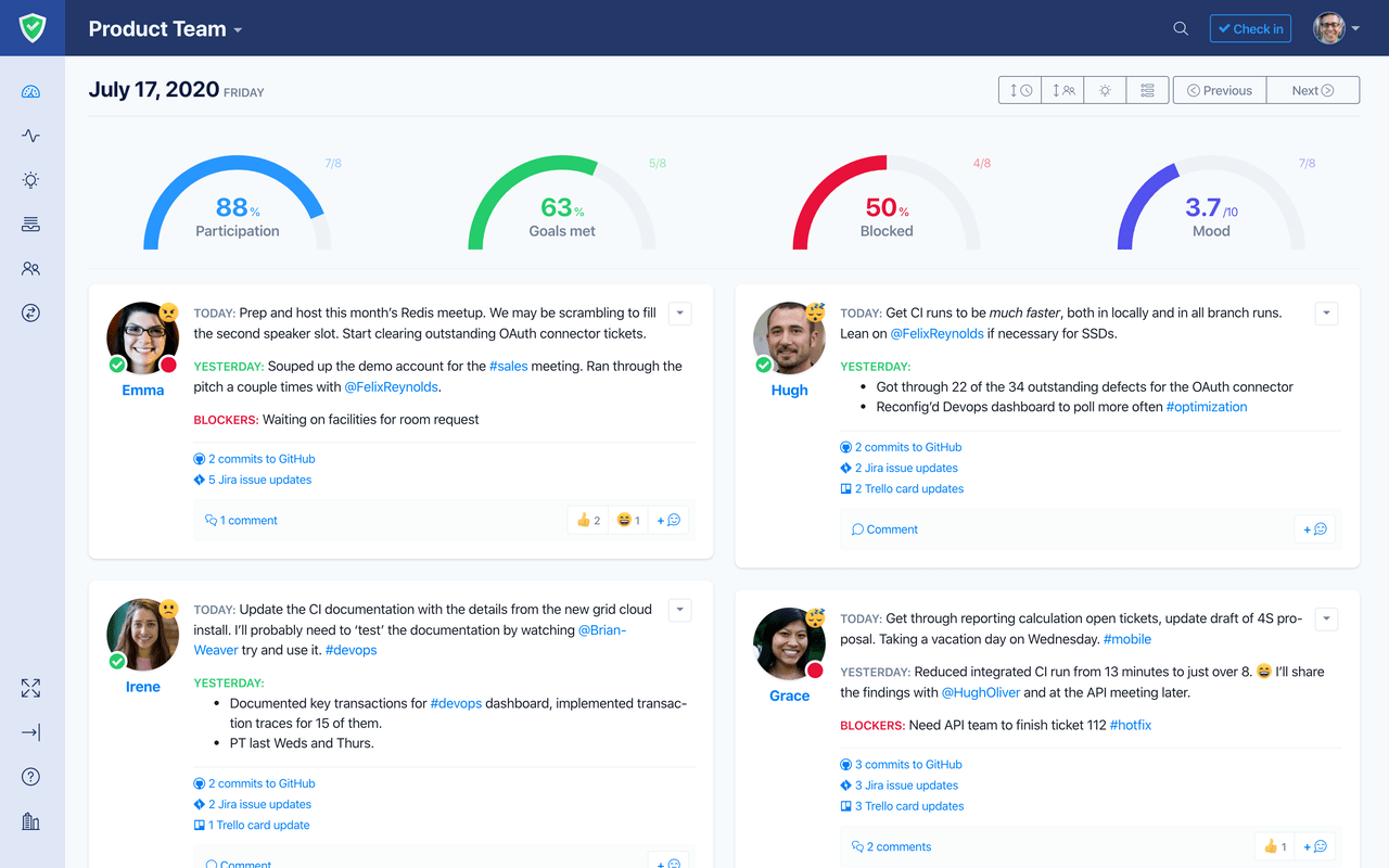 Automated Stand-ups, Reports and Insights for Software Teams