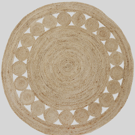 trouva jute circles rug. Black Bedroom Furniture Sets. Home Design Ideas