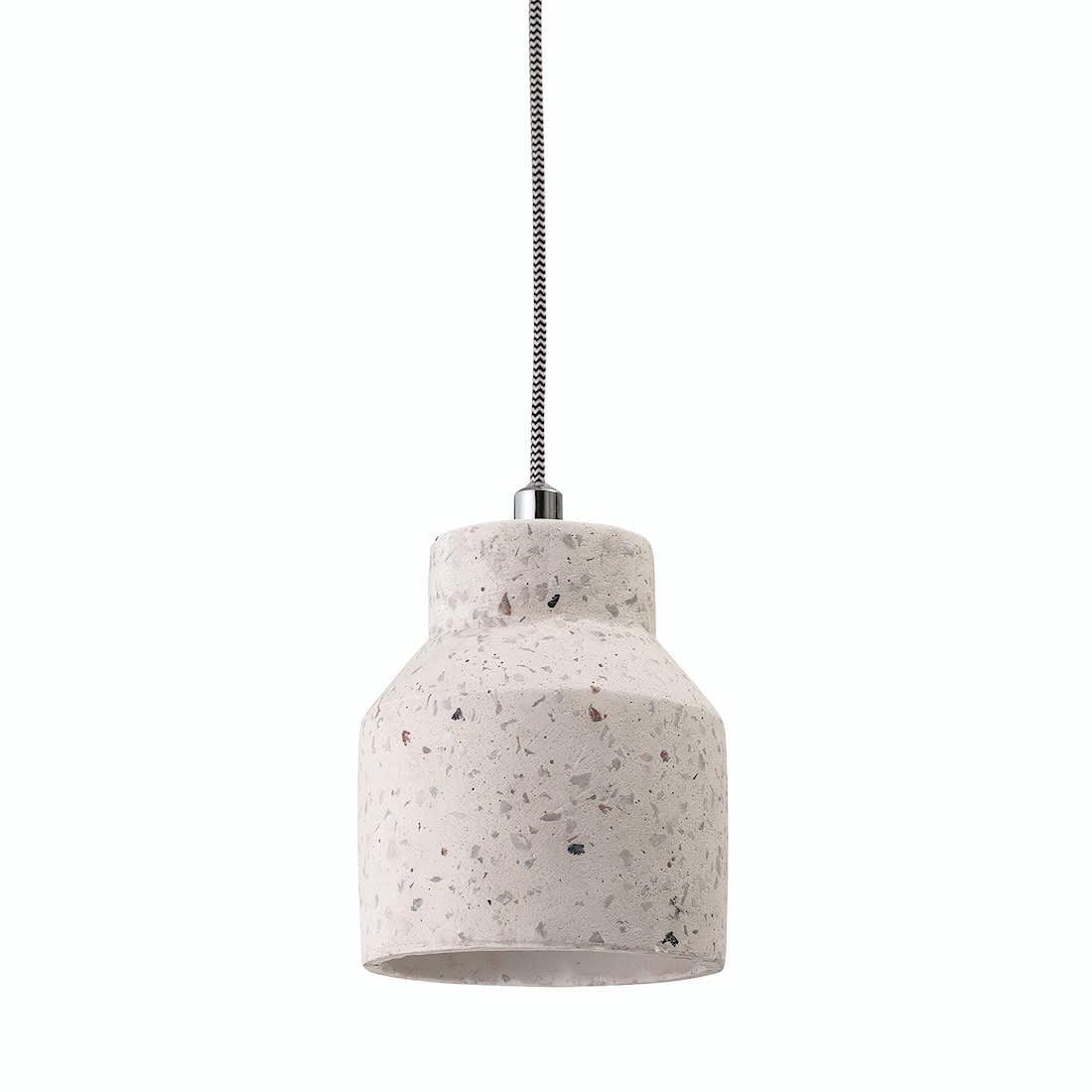 Bloomingville Natural White Concrete Pendant Light