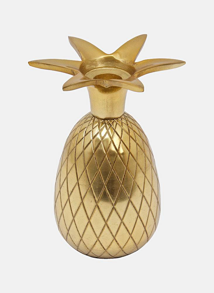 Liv Interior Gold Pineapple Candle Holder
