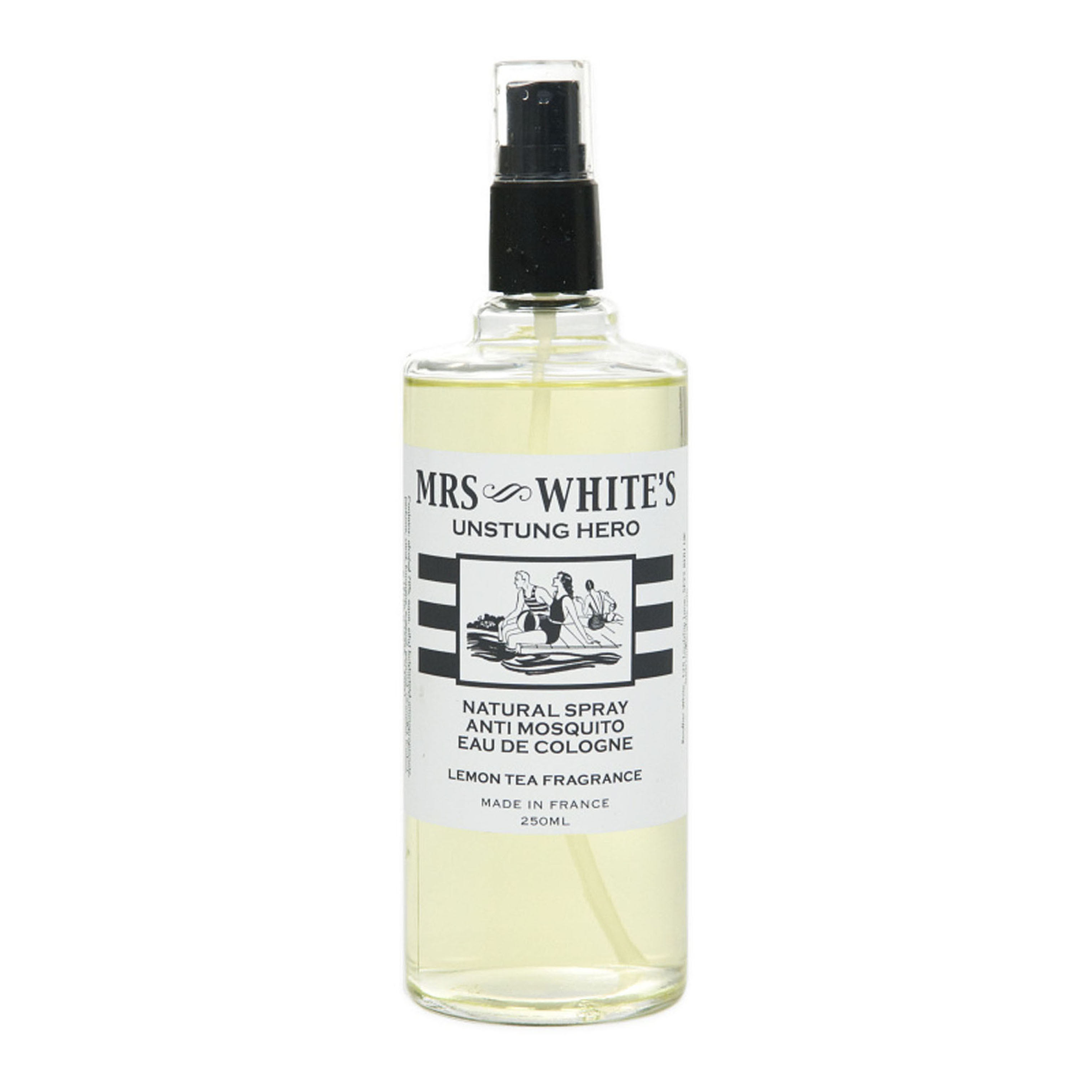 Mrs White's  Unstung Hero Anti Mosquito Eau de Cologne 250 ml