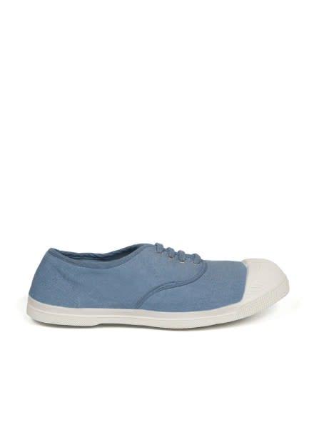 Bensimon Denim Blue Lace Up Tennis Shoe