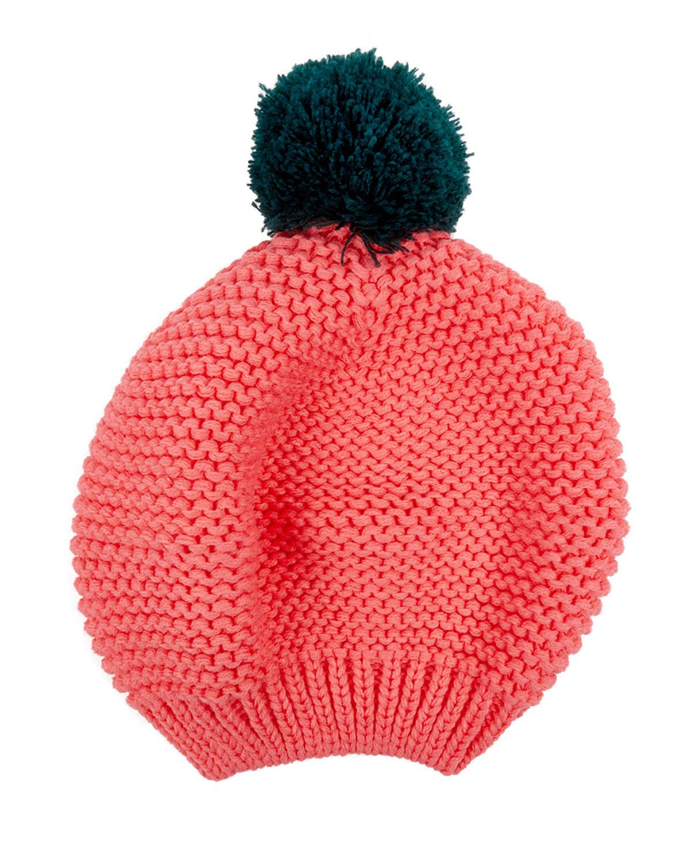 Trouva  Pink Chunky Knit Beret 2a22a1232d7