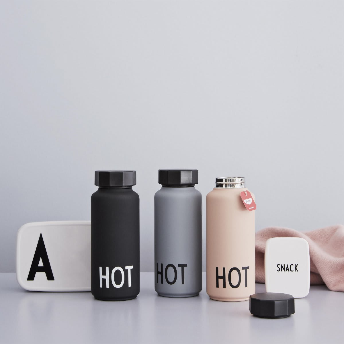 Design Letters Grey Thermo Insulated Bottle