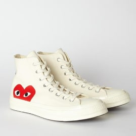 Comme Des Garcons Play White PLAY X Converse 70s Chuck Taylor All Star High Shoe