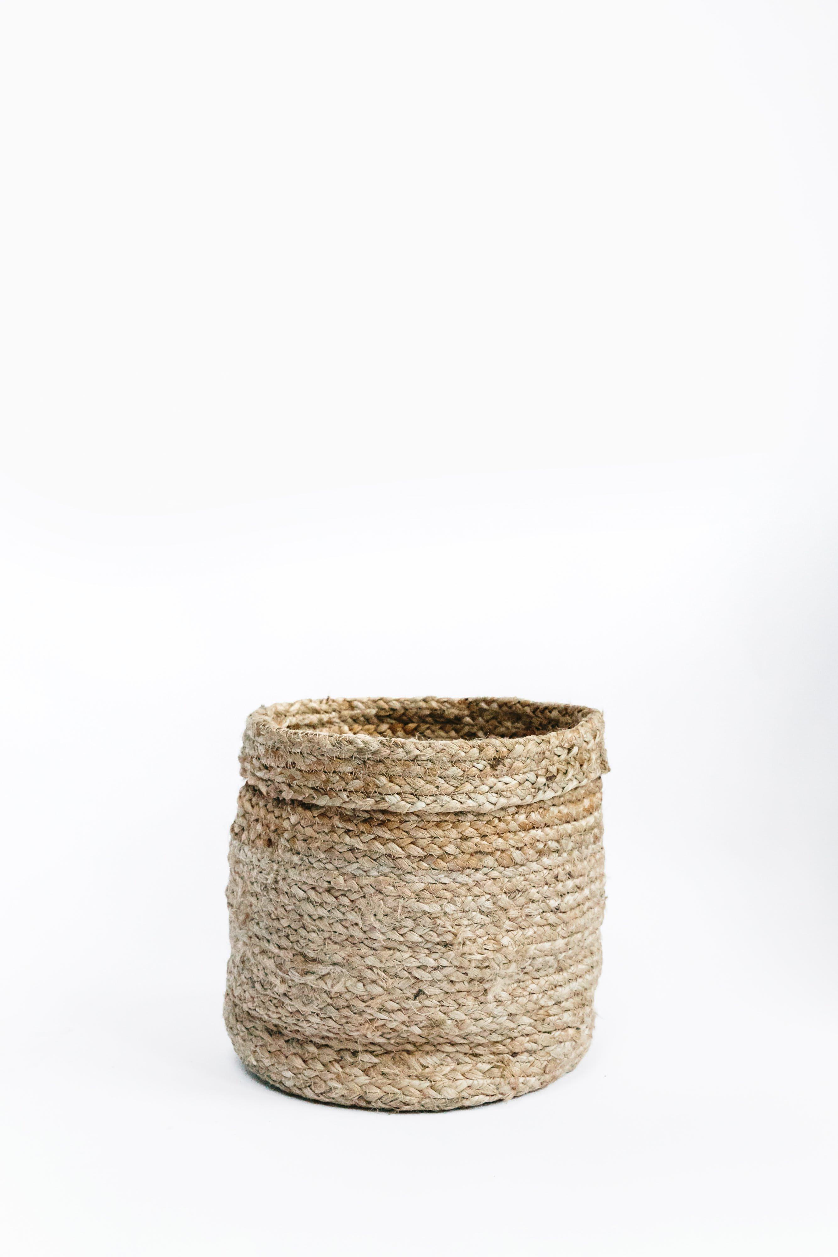 Urban Nature Culture Braided Natural Jute Basket