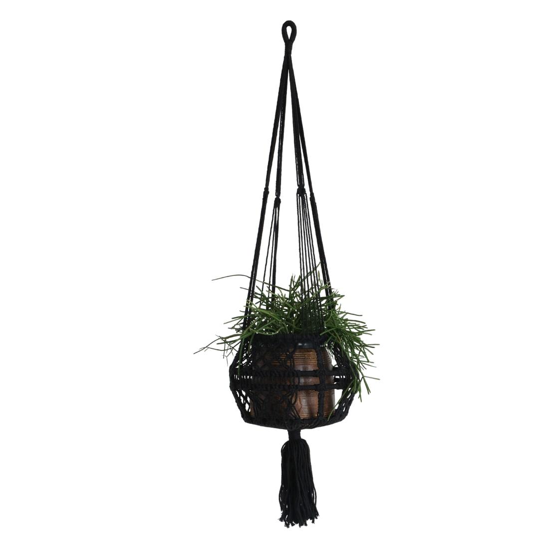 One World Interior Extra Large Macrame Hanging Basket