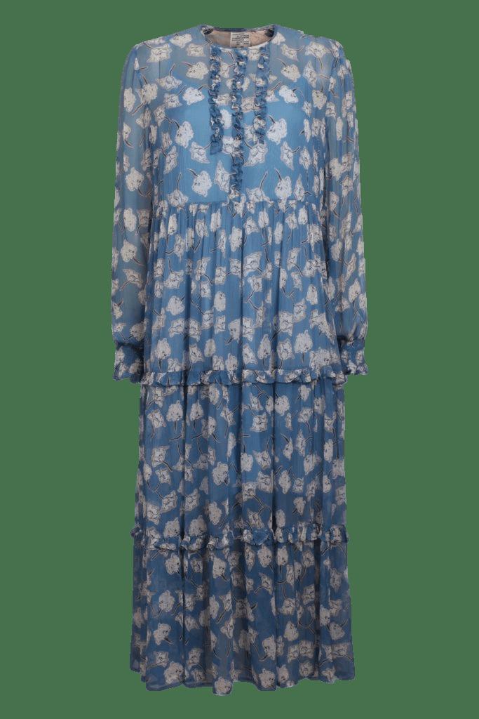 Baum und Pferdgarten Agi Blue Flowersketch Dress